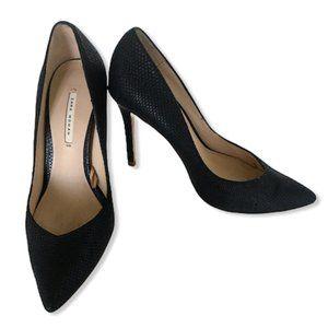 3/$25 Zara Black Snakeskin Pointy Stiletto Pump 36